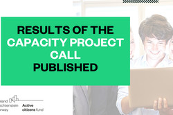 Results of the first Capacity project call